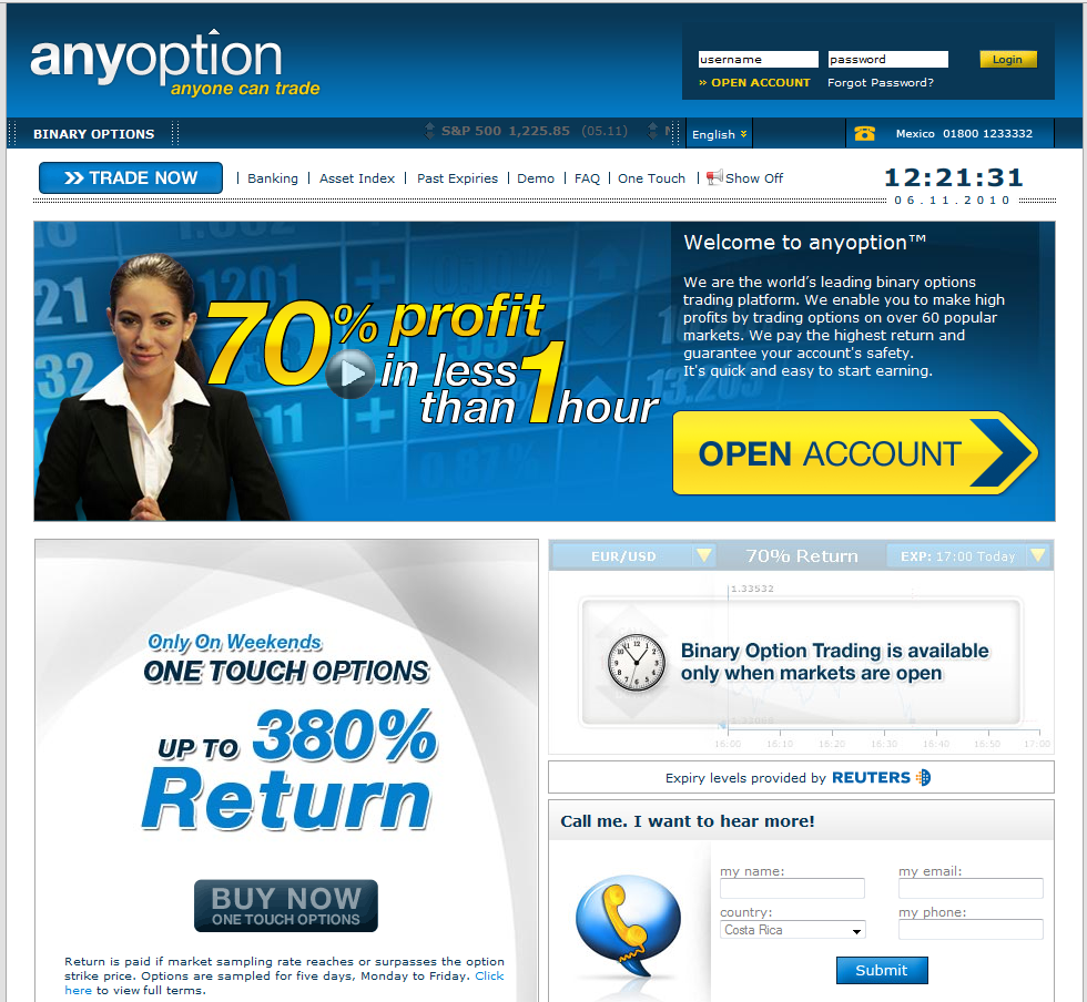 Get rich with binary options