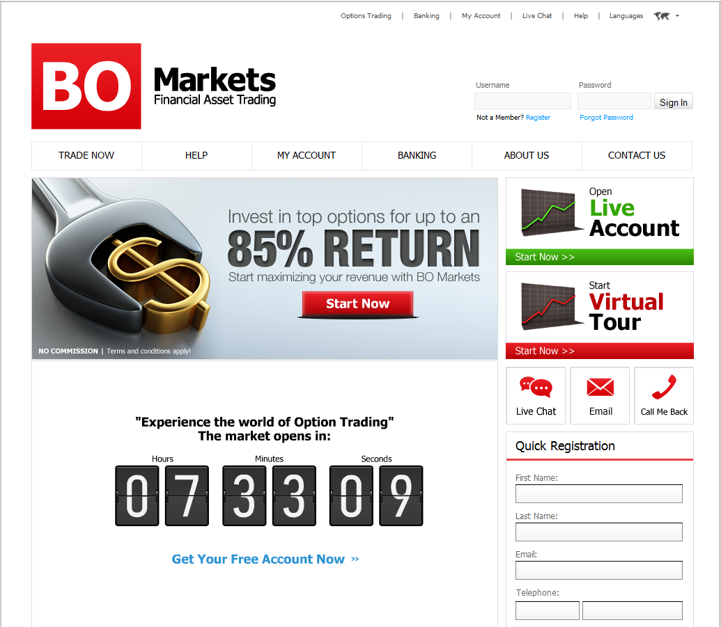 Australian binary option broker