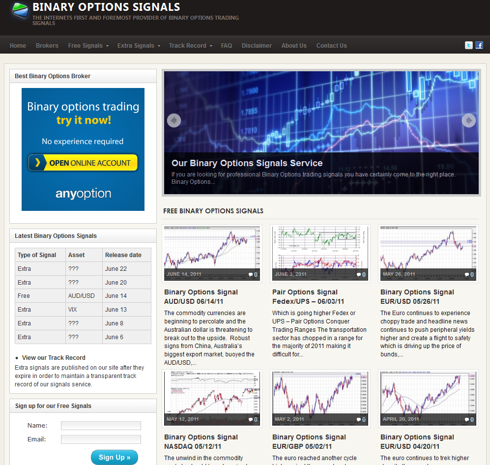 Binary options signals erfahrungen