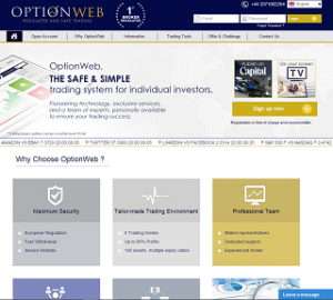 Review of the broker Optionweb