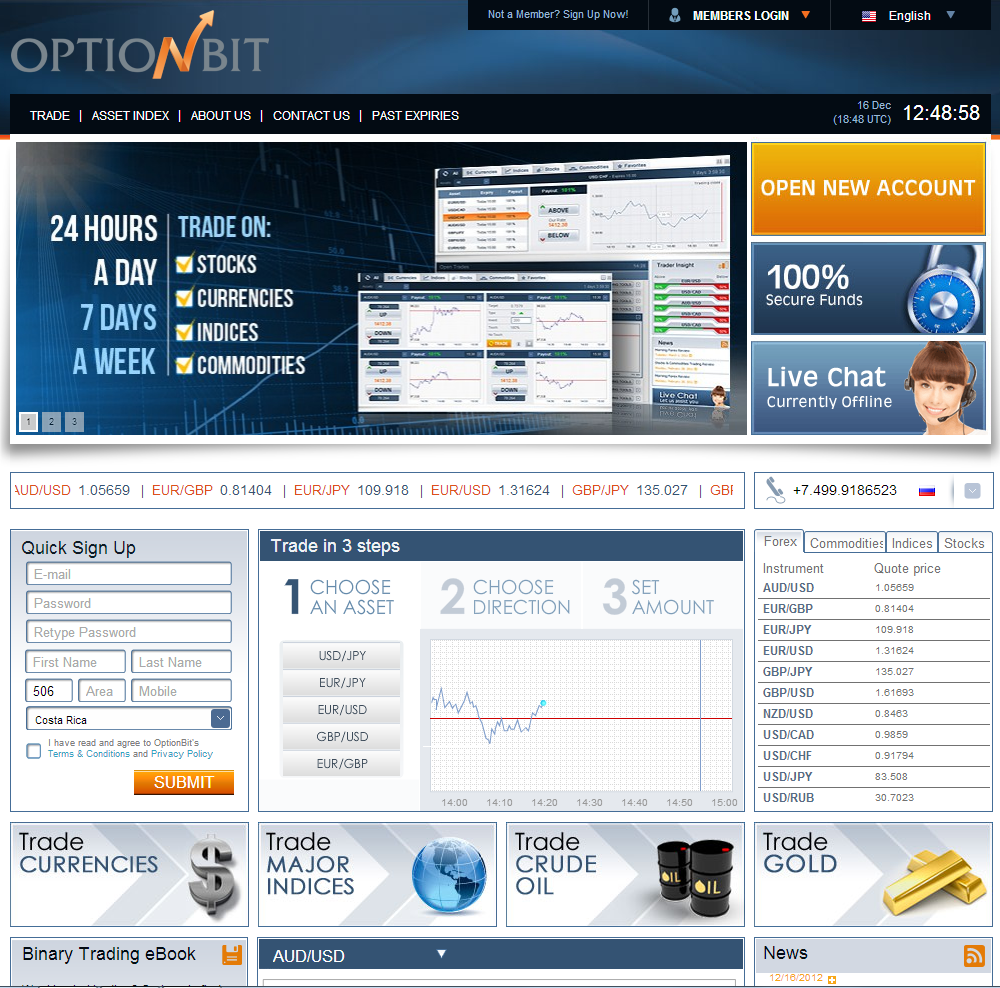 Binary option ecn